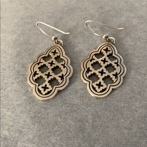 Brighton Silver drop earrings with small crosses